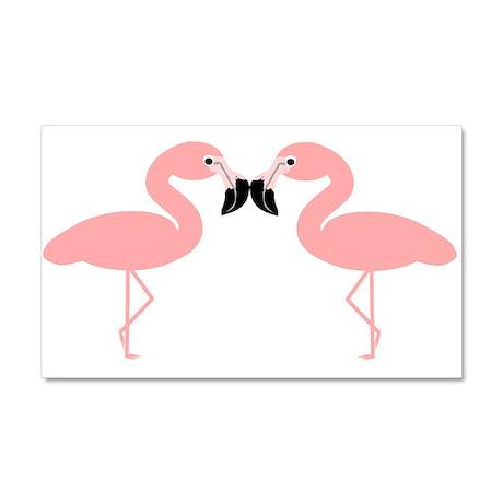 Flamingos Car Magnet 20 x 12