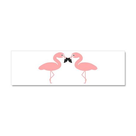 Flamingos Car Magnet 10 x 3