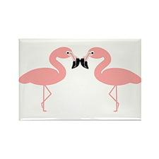 Flamingos Rectangle Magnet (10 pack)