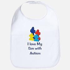 Love Autism Son Bib