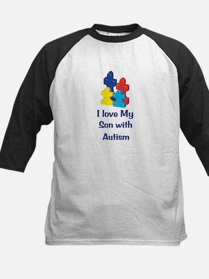 Love Autism Son Kids Baseball Jersey