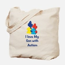 Love Autism Son Tote Bag