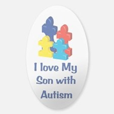 Love Autism Son Sticker (Oval)