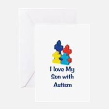 Love Autism Son Greeting Card