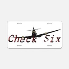 Check Six Aluminum License Plate