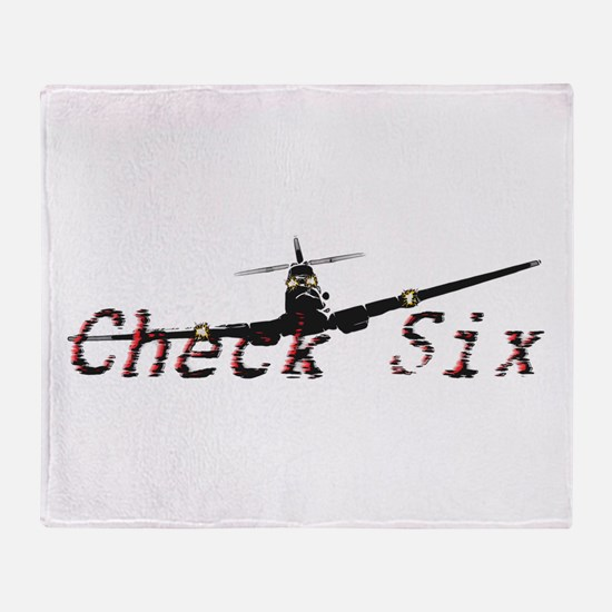 Check Six Throw Blanket