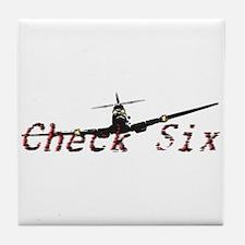 Check Six Tile Coaster