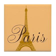 Paris Always (chocolat) Tile Coaster