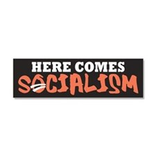 Here Comes Socialism Car Magnet 10 x 3