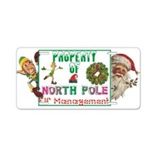 Property of North Pole Aluminum License Plate