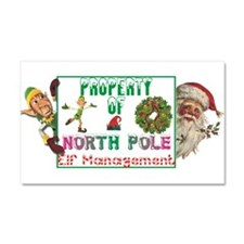 Property of North Pole Car Magnet 20 x 12