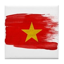 Vietnam Flag Tile Coaster