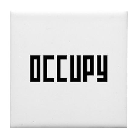 occupy rectangle Tile Coaster