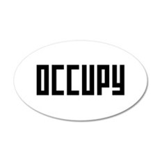 occupy rectangle 22x14 Oval Wall Peel
