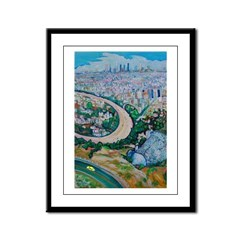 View Of Los Angeles Framed Panel Print