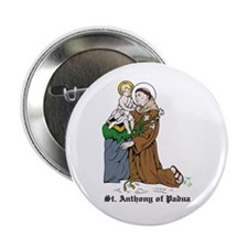 """St. Anthony of Padua 2.25"""" Button (10 pack)"""