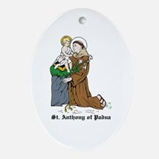 St. Anthony of Padua Oval Ornament
