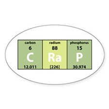 Chemical Crap Oval Decal
