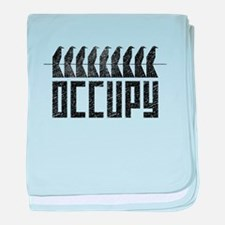 OCCUPY birds-on-wire baby blanket