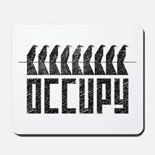 OCCUPY birds-on-wire Mousepad