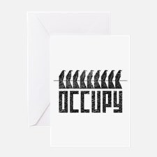 OCCUPY birds-on-wire Greeting Card