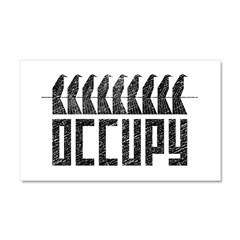 OCCUPY birds-on-wire Car Magnet 20 x 12