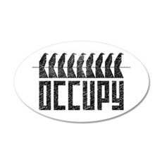 OCCUPY birds-on-wire 22x14 Oval Wall Peel