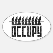 OCCUPY birds-on-wire Sticker (Oval)