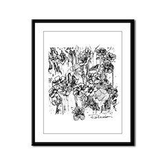 Flower Field Framed Panel Print