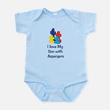 Love Aspergers Son Infant Bodysuit