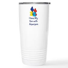 Love Aspergers Son Travel Mug