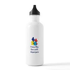 Love Aspergers Son Water Bottle
