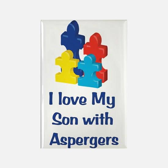 Love Aspergers Son Rectangle Magnet