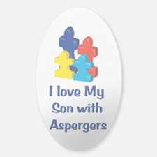 Love Autism Son Sticker (Oval)