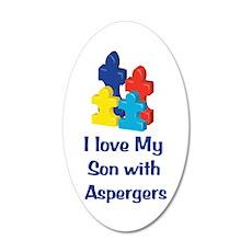 Love Aspergers Son 22x14 Oval Wall Peel