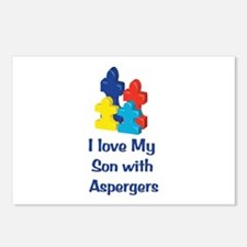 Love Aspergers Son Postcards (Package of 8)