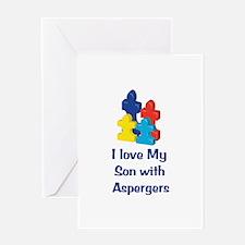 Love Aspergers Son Greeting Card
