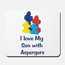 Love Aspergers Son Mousepad