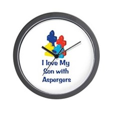 Love Aspergers Son Wall Clock