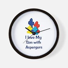 Love Aspergers Son Wall Clock