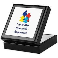 Love Aspergers Son Keepsake Box