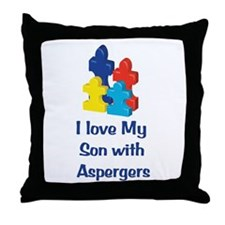 Love Aspergers Son Throw Pillow