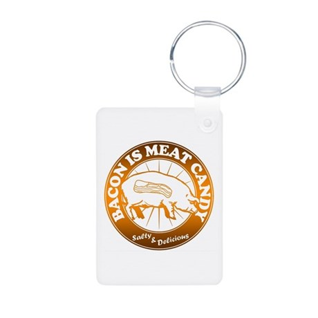 Bacon Is Meat Candy Aluminum Photo Keychain