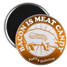 """Bacon Is Meat Candy 2.25"""" Magnet (10 pack)"""