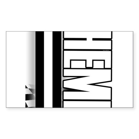 HEMI HEMI Sticker (Rectangle 50 pk)