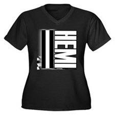 HEMI HEMI Women's Plus Size V-Neck Dark T-Shirt