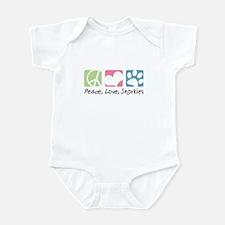 Peace, Love, Snorkies Infant Bodysuit