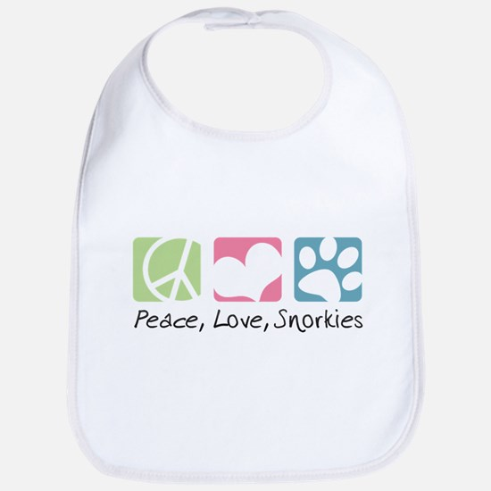 Peace, Love, Snorkies Bib