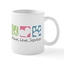 Peace, Love, Snorkies Mug