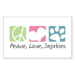 Peace, Love, Snorkies Sticker (Rectangle 10 pk)